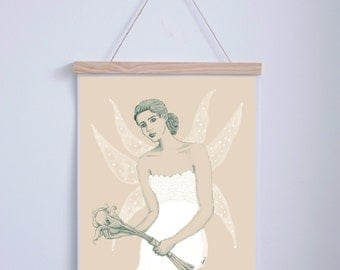 Fairy wedding with cleats. A3. Illustration Digital.AnabellaIlustracion