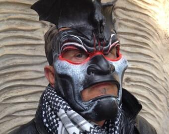 Demon Mask, Halloween Mask, Black Mask, Bat Mask, Masquerade Mask Face Demon Mask Devil Face Mask Animal Mask Bat Devil Mask Halloween Party