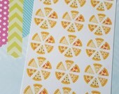 Pizza Night Decorative Planner Stickers //012