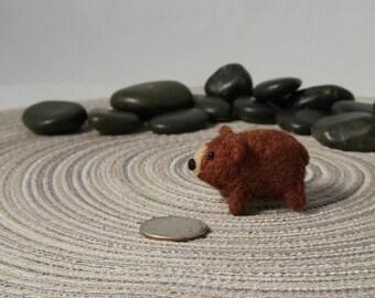 Miniature Brown Bear Soft Art Toy Microfauna Figurine