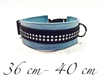 Blue dog collar with rhinestones
