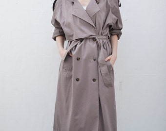 Vintage 90s Lilac Trench Coat LILCT0116CH