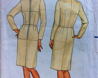 Uncut sewing patterm Butterick 3415 Fitting Shell Bust 34 Waist 26.5 Hip 36 Used to make toile for perfect garment fitting