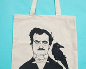 Edgar Allan Poe I Need a Hug Raven Tote ~ Tote Bag ~ Funny Tote ~ Funny Tote Bag ~ Gifts for Readers & Writers