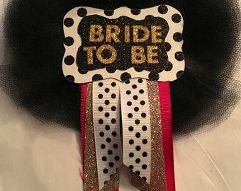 Kate Spade Themed Bridal Badge
