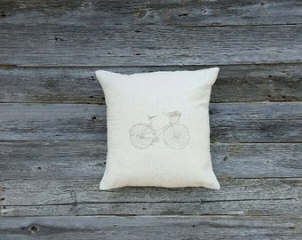 Vintage Bicycle Pillow Cover