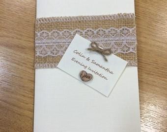 Personalised Wedding Invitations - Evening