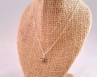 Small Gray Pearl Necklace