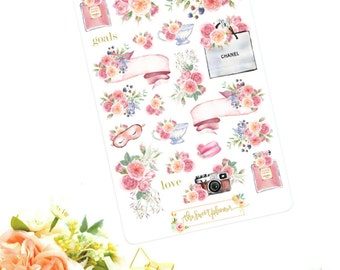 ELEGANT | Floral Deco Sticker Sheet