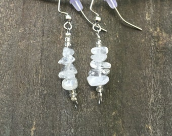 Clear Crystal Quartz Earrings
