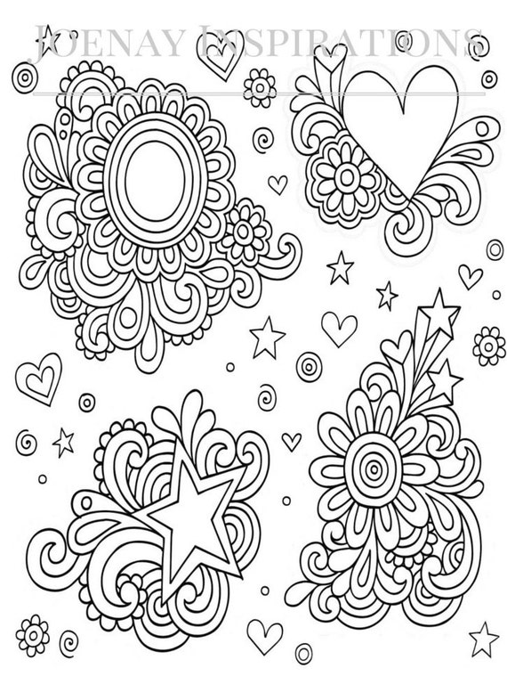 Adult Coloring Book, Printable Coloring Pages, Coloring Pages, Coloring Book for Adults, Instant Download, I love 70s 1 page 3