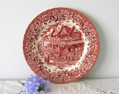 Plate of vintage, GRINDLEY, England, art and collection, old plate collection