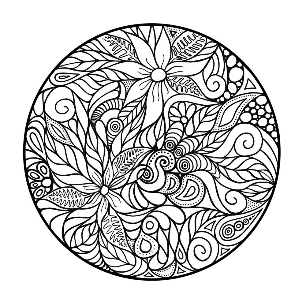 Abstract Circle Coloring Pages : Adult coloring page abstract circle by adultcoloring on
