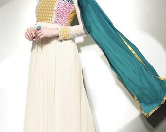 Cream Designer Dress