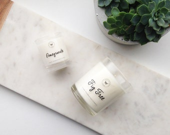 Medium and Small Soy Wax Candle Combo - Choose your Fragrance