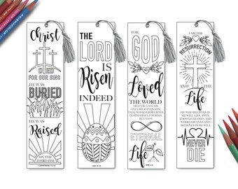Coloring Bible Bookmarks - Printable, Instant Download, Color In ...