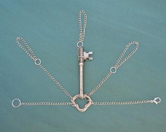 Antique Skeleton Key Slave Bracelet