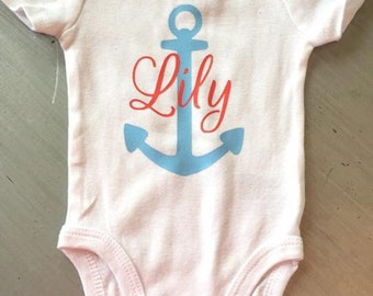 Personalized Anchor Onesie