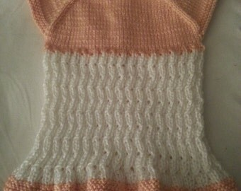 Hand knit baby dress