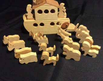 Noah's Ark, Wooden Ark,  Toy Ark