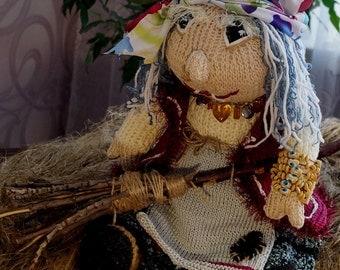 Toy Baba Yaga Knitted toy Baba Yaga  Fairytale character Baba Yaga  Woodwoman Baba Yaga