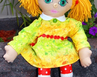 Girl Gift, Stuffed Doll, Fabric Doll, Gifts For Her, Handmade Rag Doll, Cloth Rag Doll, Soft Baby Doll, Daughter Gift, Gifts For Girls