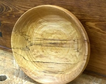 Beech Wood Bowl made on a foot powered lathe from from a beech tree I had taken down on my Kentucky property