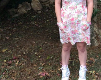 Spring floral play dress