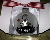 Veterinarian Gift, Personalized Vet Christmas Ornament, Animal Doctor, Vet Tech, Assistant, Pet Care, Male or Female