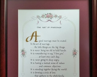 ART OF MARRIAGE, Framed