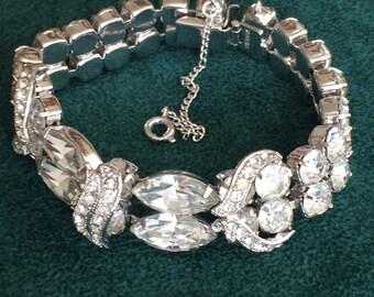 Vintage Signed EISENBERG Crystal Bracelet C.1950