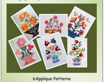 Baskets of Applique Flowers - The Quilt Ladies - PDF Download to you in MOMENTS