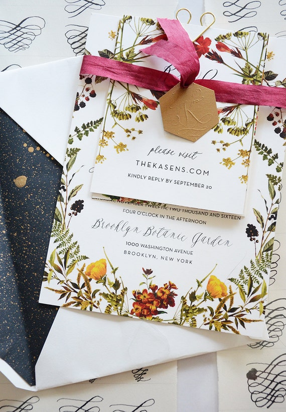Botanical Frame Invitation