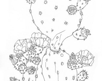 Custom Coloring Page Pen Drawing From Photo 5x7