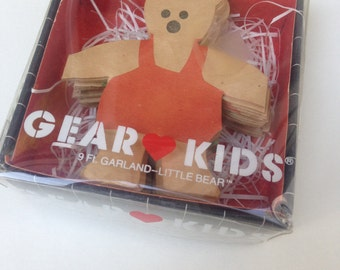 Adorable 80's Little BEAR 9ft GARLAND Decor / BY Gear Kids / New in Box / Holiday Decor/ Teddy Bears