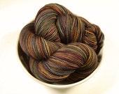 Hand Dyed Sock Yarn - Sock Weight Superwash Merino Wool Yarn - Agate - Knitting Yarn, Fingering Yarn, Sock Yarn,  Earthtones
