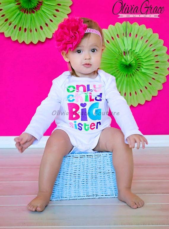 Completely new Big Sister Shirt, New Baby Announcement Shirt, Gender Reveal Shirt  OG55
