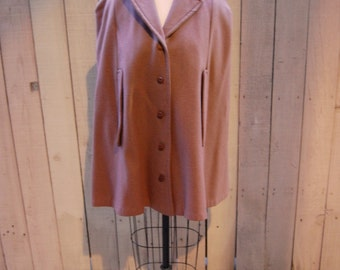 Vintage Tweed Camel Cape Jacket - 1960s