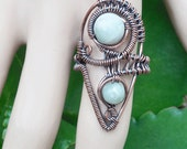 Bohemian tribal ring - bohemian rings - tribal jewelry - size 10 ring - statement rings - boho rings - bohemian jewelry - boho jewelry