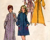 1960s Womens Robe Pattern - Vintage Simplicity 9722 - Bust 34 36