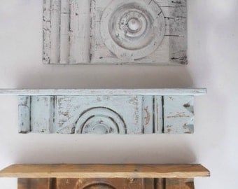 Antique Rustic Shelf. Architectural Wall Art. Original Primitive Wall Sconce. Ooak Wood Shelf.  Antique wall decor