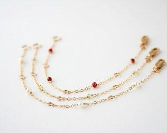 Gold Bracelet, Chain Bracelet, Stocking Stuffer, Delicate Bracelet, Gift for Her