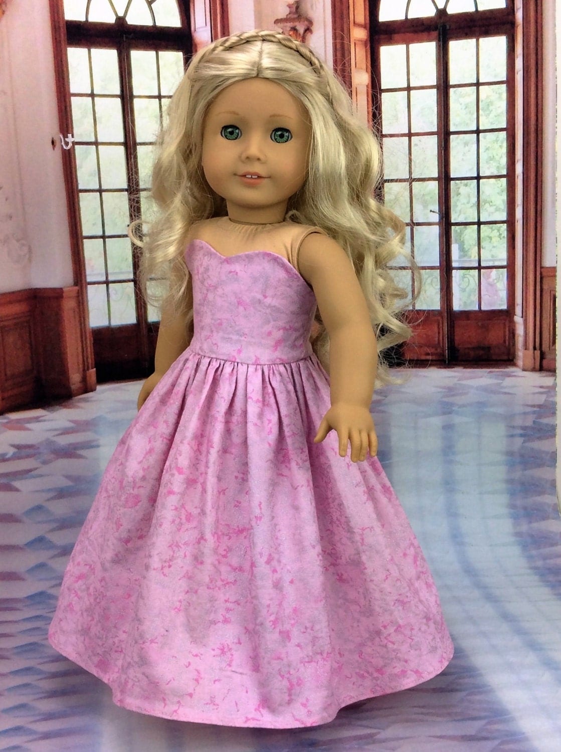 18 Pretty Halloween Makeup Ideas You Ll Love: Pretty Pink 18 Inch Doll Dress Is Ball Gown By