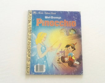 Little Golden Book Pinocchio / Vintage Disney