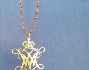 William and Mary Cypher Pendant Necklace
