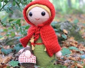 Crochet pattern - Red Riding Hood by Tremendu - amigurumi crochet toy doll, PDF digital pattern