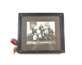 Vintage Framed Victorian Photo, Antique Family Photograph, Wall Decor