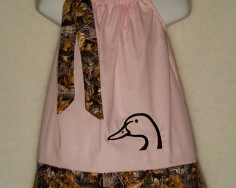 Camo Pillowcase Dress / Duck / Realtree AT + Pink / Flower Girl / Newborn / Infant / Baby / Girl / Toddler / Custom Boutique Clothing
