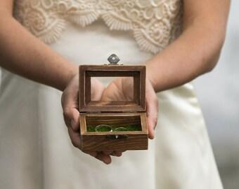 Glass Wedding Box Wedding ring box Ring Bearer Box Ring Box Еngagement box Proposal Box Ring Bearer Box Wedding Ring Holder Custom Ring Box