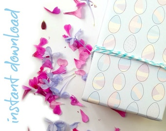 Easter gift wrap etsy instant download wrapping paper easter eggs digital download a4 gift wrap negle Choice Image